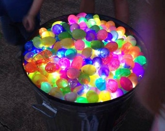 Ten packs of LED Finger Lights (4 lights per pack, 40 total lights) for Easter Eggs, craft projects, Halloween, give aways, or the Playa!