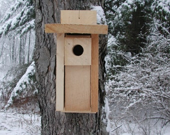 Bluebird House Bluebird Nesting Box Bird House Nesting Box House for Bluebirds Rustic Pine Bird Nest Box Handmade Bluebird House Spring Bird