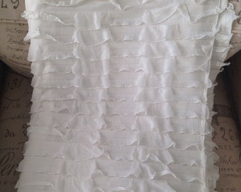 Cream ruffle fabric