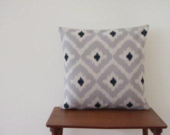 "18""x18"" Grey IKAT Moroccan Pillow Cover Cushion Cover Throw Cushion Cover SHAM #3274"