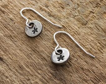 Silver Star Earrings - Fine Silver Star Earrings - Silver Star Charm - Celestial Charm Earrings - Sterling Silver Earrings - Star Earrings