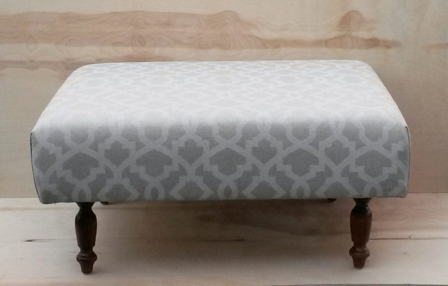 Upholstered Ottoman Coffee Table Tan And Cream