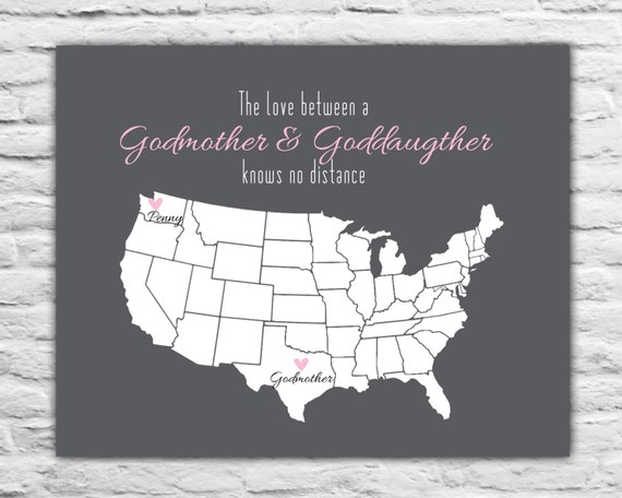 Godmother Gift Goddaughter Gift Long Distance Gift: Godmother Gift From Goddaughter Christmas Gift Ideas For