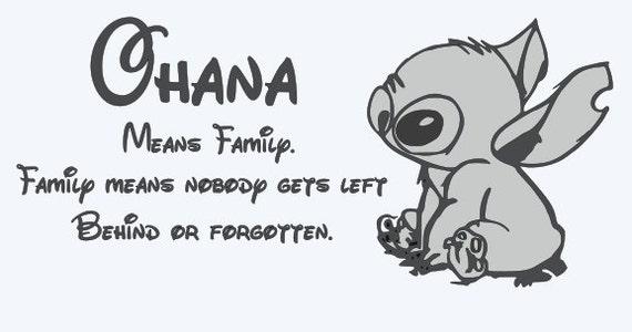 Ohana Means Family Quote Tattoo: Ohana Significa Famiglia. Famiglia Significa Che Nessuno