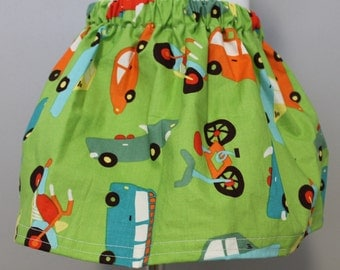 Green Car and Vehicle Twirly Skirt- 3T