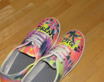 Tie Dye shoes for women size 8