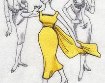 1930s Fashion Embroidered Flour Sack Hand/Dish Towel