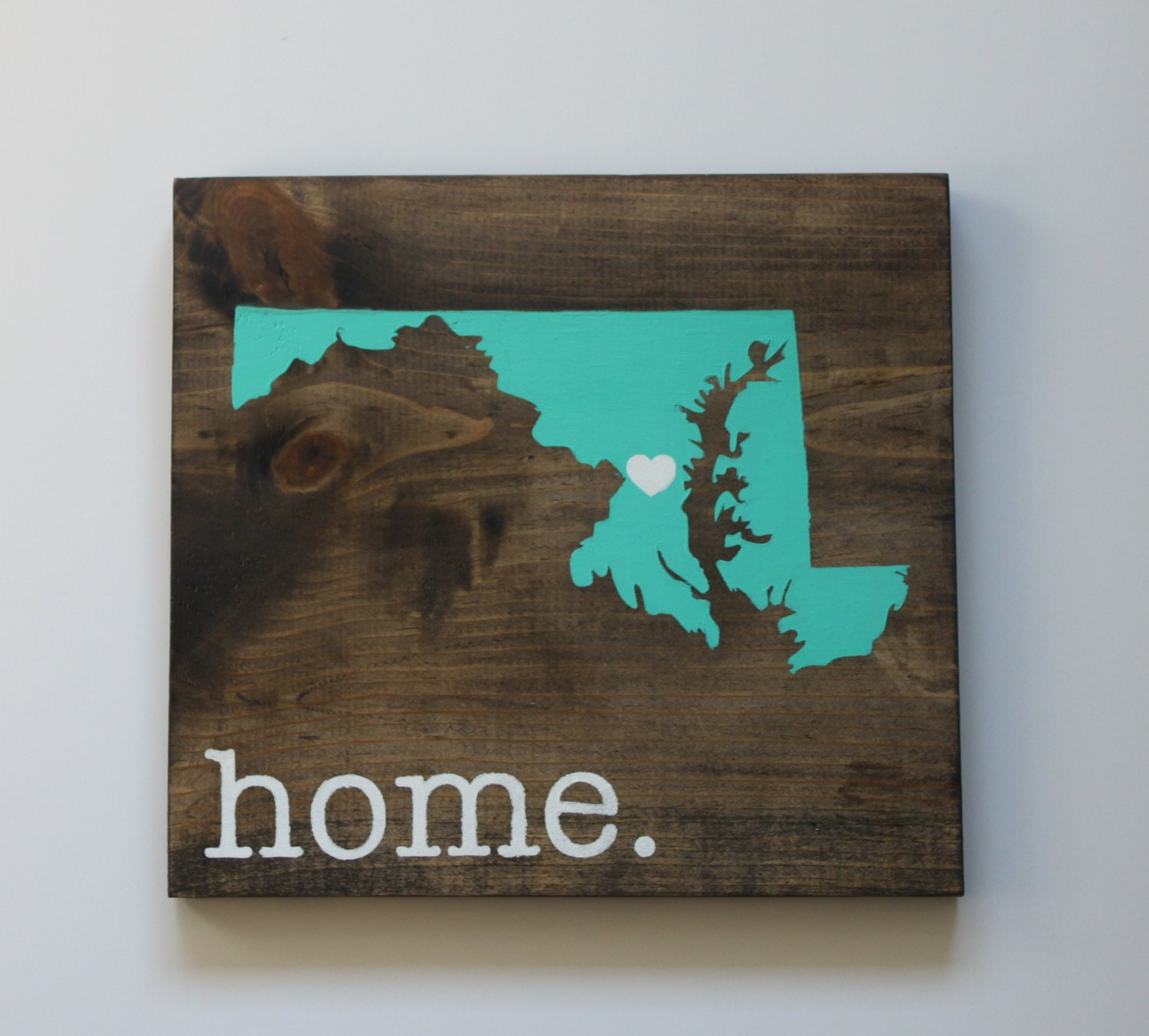 Maryland Wood Sign State Sign Custom Wood Sign Pallet Sign