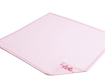 Pink pocket handkerchief 100% cotton - TSHU Edith