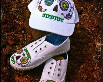 SALE!!! Sugar skull cap and slippers set