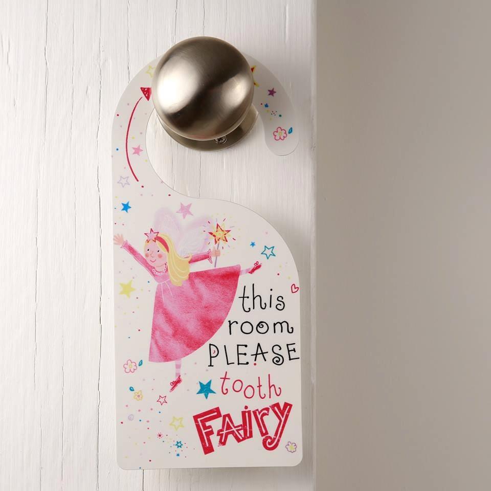 Tooth fairy door hanger girls pretty bedroom for Fairy door for bedroom