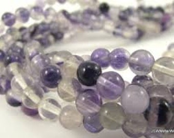 Flourite Natural Gemstone - 8mm Rounds - Pack 25