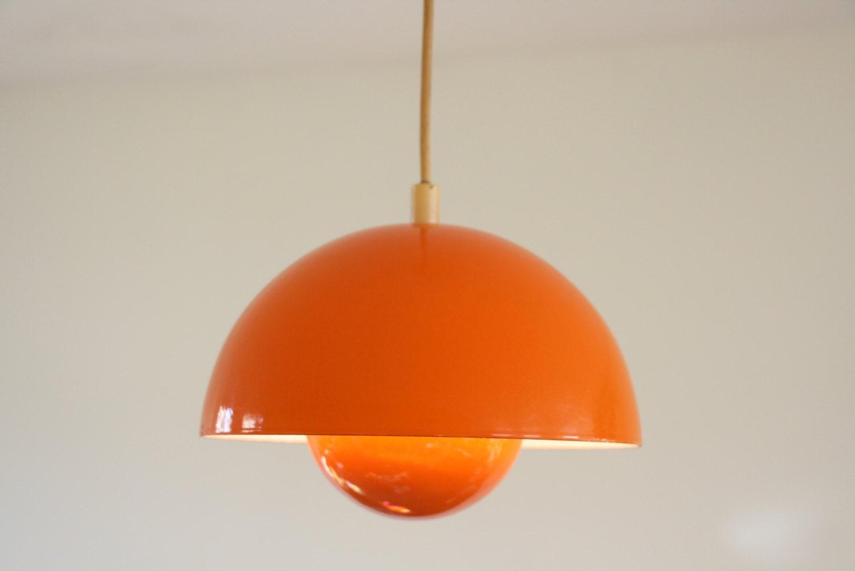 orange blumentopf stehleuchte von verner panton 1960er jahre. Black Bedroom Furniture Sets. Home Design Ideas