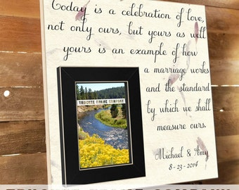 Thank You Gift For Parents Hosting Wedding : parent wedding gift parent thank you gift parent wedding gift frame ...