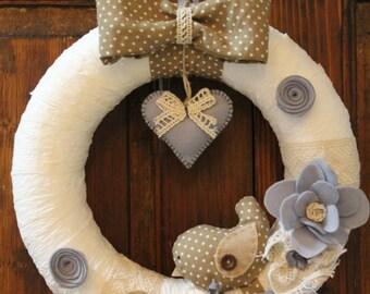 Wreath/Garland shabby chic style