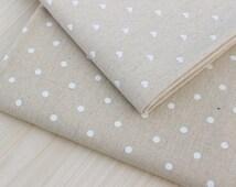 Milky dot fabric,white heart linen fabric,plain linen fabric,natural linen color fabric,natural linen fabric,burlap fabric,curtain fabric