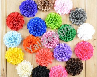 U Pick 10pcs/lot 5CM 2'' inch Wholesale Mini Satin Ribbon Blossom/ Flower Headdress DIY Fabric Headband Accessories-Mixed Color- YTA46