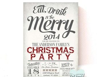 Holiday Party Invitations Holiday Invite Christmas Printables Christmas Invitations Invite Printable No.629XMAS
