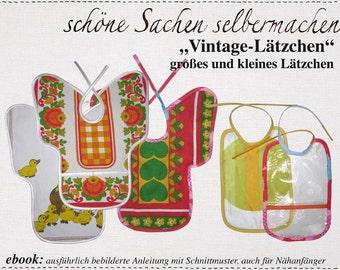 Vintage Lätzchen: 2 Schnittmuster