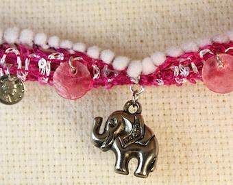 Bracelet with elephant charm
