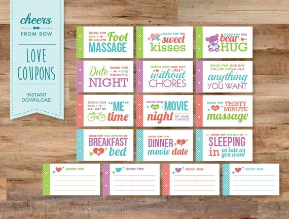 Romantic And Naughty Printable Love Coupons For Him Glitter N Spice