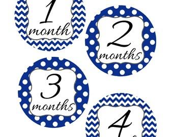 Milestone Stickers, Baby Month Stickers, Navy Blue, Monthly Stickers, Monthly Baby Sticker, Baby Shower Gifts, Baby Month Sticker Boy, B21