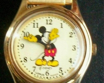 Disney Retired Pts. To Time Ladies Lorus Mickey Mouse Watch! New
