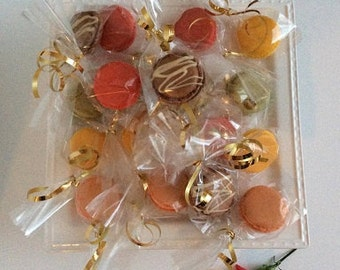 french macaron party favors, ottawa macarons, candygrams, individual macaron favors, party favor, christmas candygram,french macarons ottawa