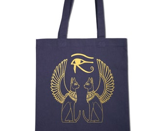 Tote Bags with Egyptian Cats