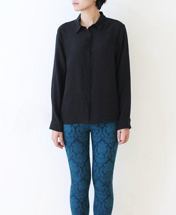 Womens silk shirt button down shirt blouse casual shirt long for Silk button down shirt