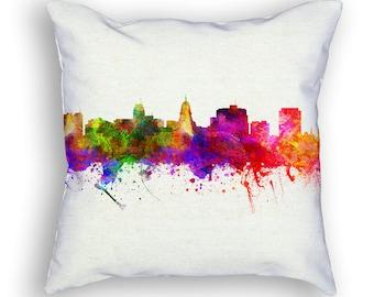 Madison Wisconsin Throw Pillow, 18x18, Cushion Home Decor, Gift Idea, Pillow Case 02