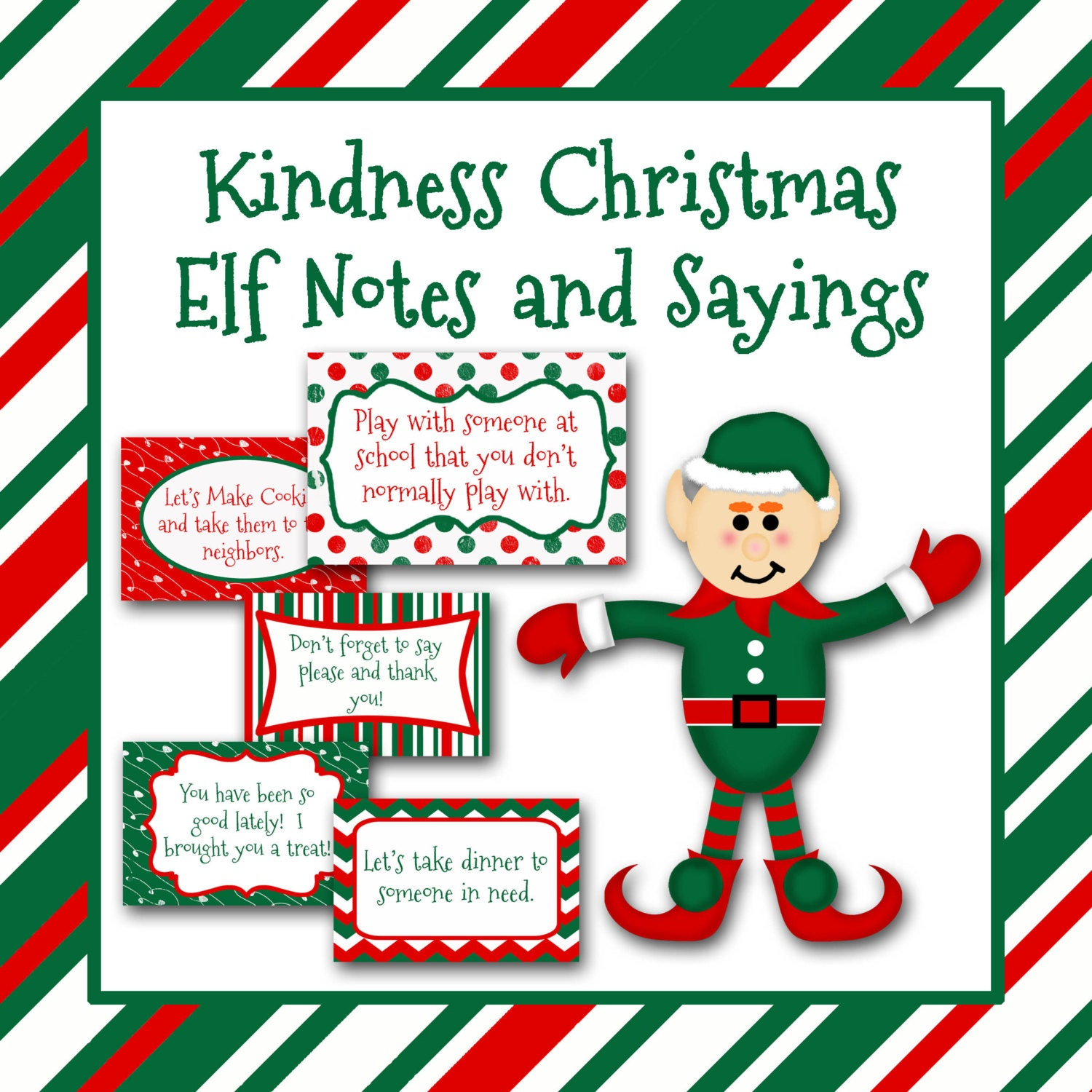 Kindness Christmas Elf Notes And Sayings Printable INSTaNT