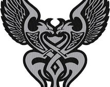 Embroidered Celtic Eagles  REFLECTIVE patch