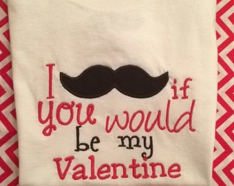 I 'mustache' if you would be my Valentine!