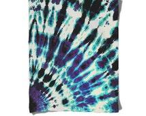 Fleece Blanket-Blue Purple Black-Tie Dye Blanket-Hippie-Winter Cozy Warm-Decorative Fleece Blanket-Baby Blanket-Medium Large Blanket