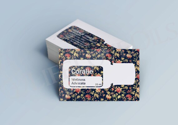 Fleur Essential Oil Cards Business Cards