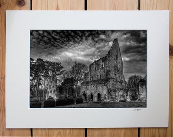 A4 mounted Print of Shropshire Abbey