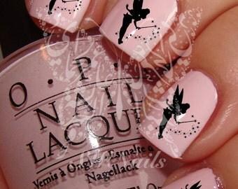 Nail Art Cute Black Fairy Nail Water Decals Transfers Wraps