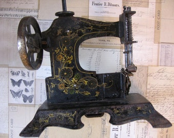 Antique Child's Toy Sewing Machine Miniature 19th Century