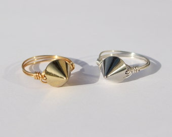 Spike Ring in Silver or Gold