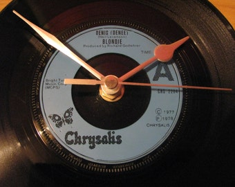 "Blondie denis denee  7"" vinyl record clock"
