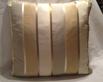 Striped Silk Welted Pillow Covers