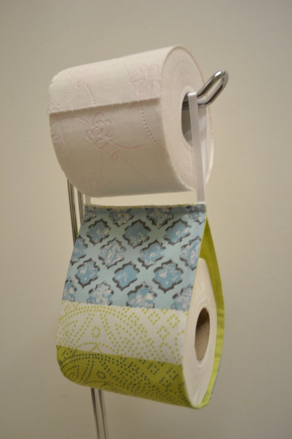 The Decorative Toilet Paper Holder Storage With Fabric Green