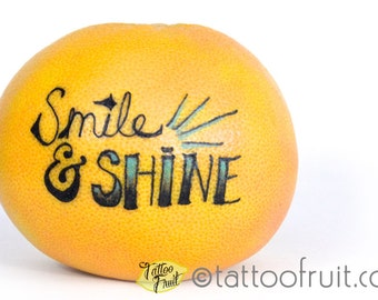 8x10 Smile and Shine Tattooed Grapefruit Print for Charity!