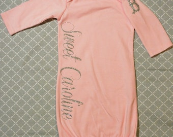 Lovely Baby Gown  Light  Pink / Silver Glitter