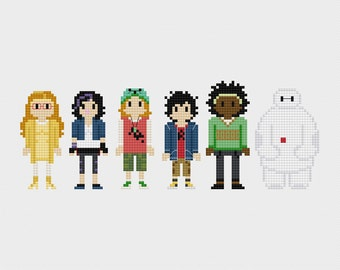 Big Hero 6 Cross Stitch Pattern PDF Instant Download