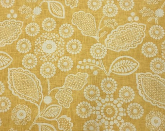 Yellow and White Whimsical Fabric - Upholstery Fabric By The Yard - Drapery - Upholstery - Pillow - Ottoman - Roman Shade