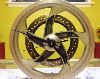 Motorcycle Wheel Clock