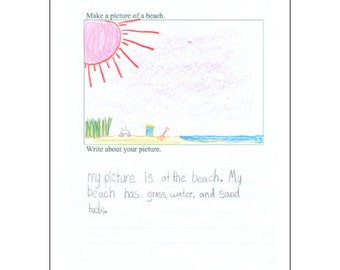 Picture and Writing: Younger Ages -- printable art and writing pages -- drawing and writing prompts -- a creative, fun activity for kids
