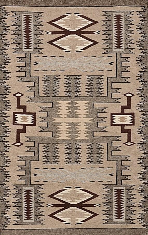 Navajo Rug Storm Pattern Rug Native American Rug Wool